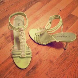 Apple green sandals/heels