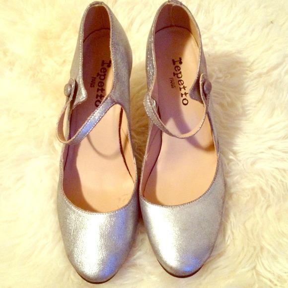 bdc13251f1ff Repetto silver Mary Jane s. M 5181dd33bdf51c6333020e74