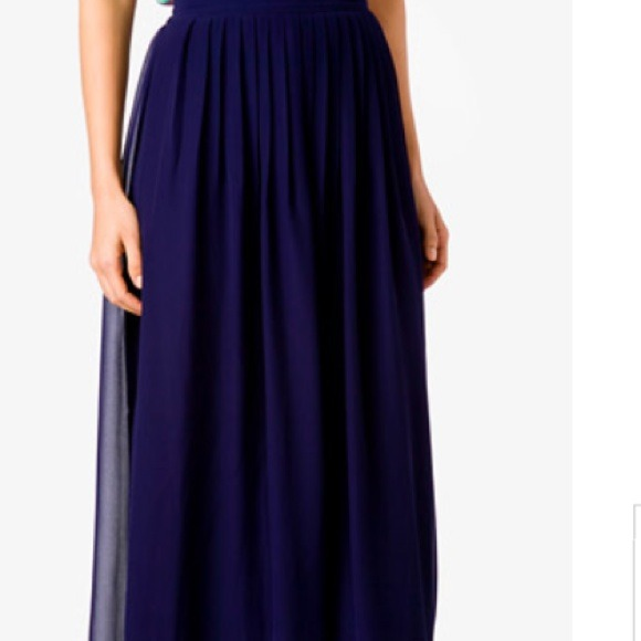 50% off new without tag! Dresses & Skirts - Dark blue pleated maxi ...