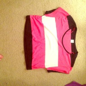 Victoria secret pink striped shirt! Size XS (: