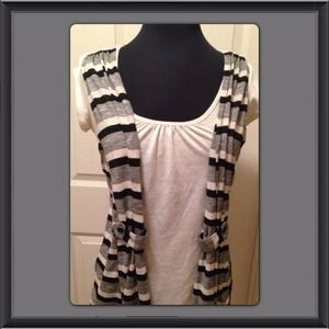 Tops - Cute Shirt with attached vest