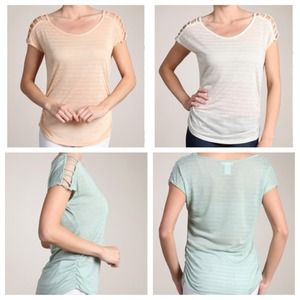 Tops - (SOLD) Ladder Sleeve Top