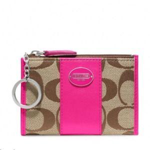 Coach mini legacy change wallet