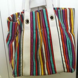 Marc by Marc Jacobs terry cloth rainbow beach tote