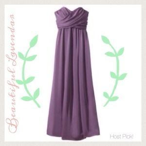 Lavender Chiffon Maxi Dress bridesmaid ✨host pick✨