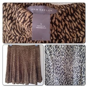✨Ann Taylor skirt leopard print