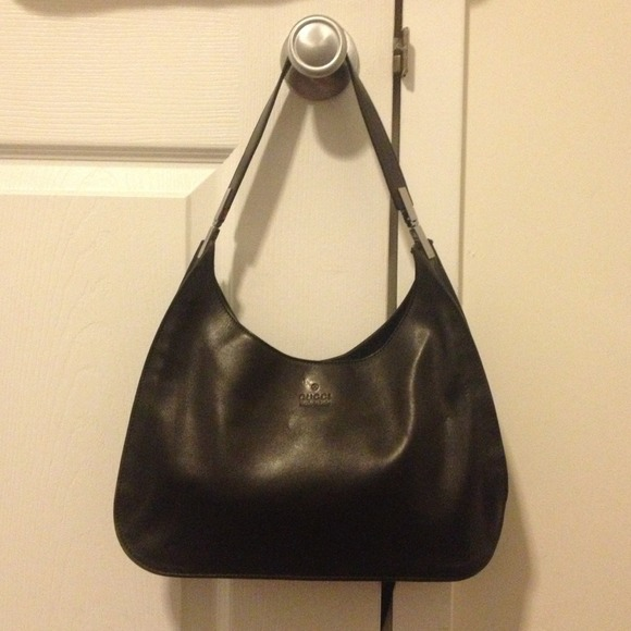 6f2bfaa18a57 Gucci Bags | Sold 100 Authentic Black Leather Bag | Poshmark