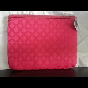 Authentic Coach tablet case/Pink