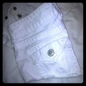 True religion white shorts