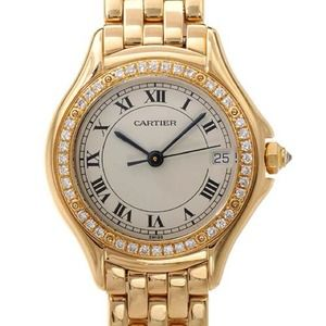 Authentic Pre-Loved Cartier Diamond 18K Gold Watch