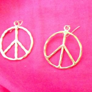 Hip peace sign earrings