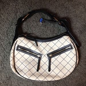 Dooney & Bourke Handbags - Dooney & Bourke Small Circle Hobo - Cream 👜 Bag