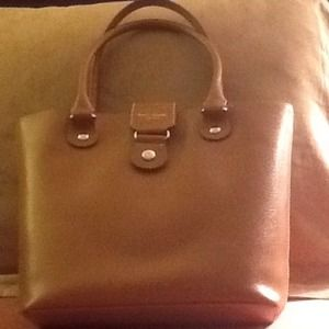 Kate Spade Cognac Leather Tote Bag Shopper Handbag
