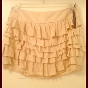 Express silk beige skirt