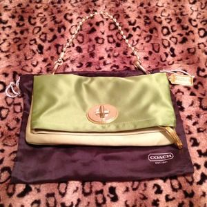 NWOT bright lime/w light lime flap