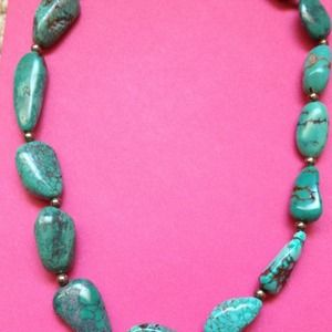 Jewelry - Stunning Turquoise & Silver Necklace - BNWT - 18""