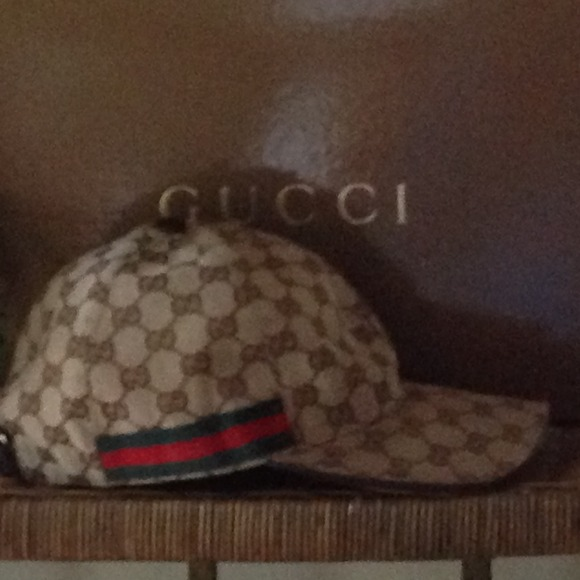 d955468e Gucci Accessories - Authentic GG Pattern Baseball Hat with Web Detail