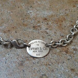 Jewelry - Tiffany Oval Tag Necklace