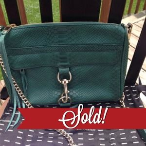 ❌SOLD❌Rebecca Minkoff Teal Alligator MAC