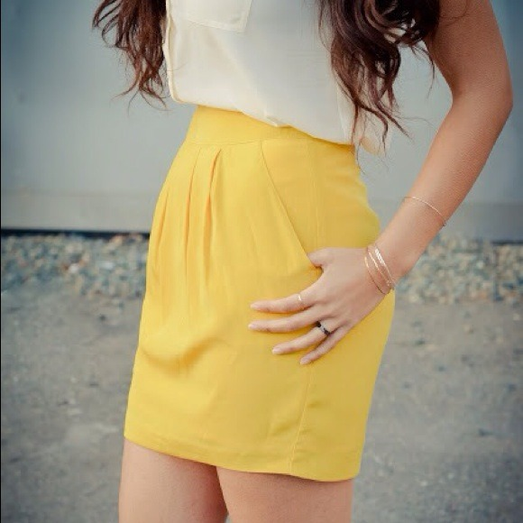 Canary Yellow Skirt