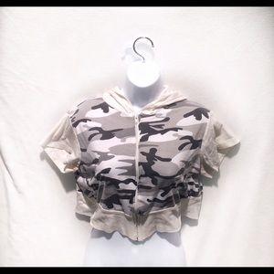 Mascara Jackets & Blazers - 🆑 Army Fatigue Crop Jacket