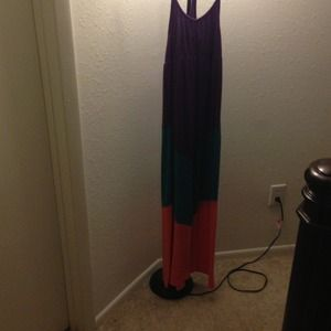 Block colored maxi dress