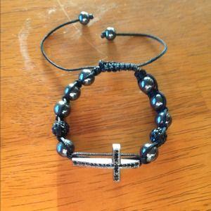 Jewelry - Shamballa cross bracelet