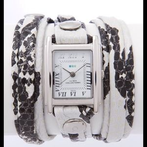 La Mer double strap wrap watch