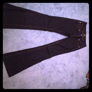 BEBE super flare jeans, size 26 WITH BLING!