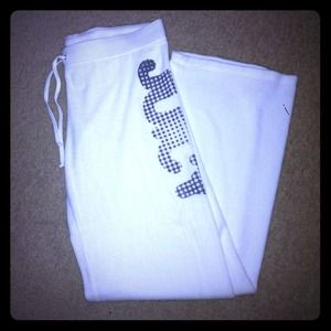 White terry cloth Juicy Couture pants