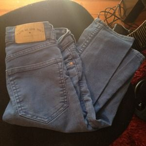 Pants - Blue high waisted jeans