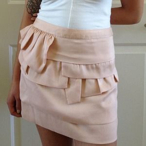 Topshop Dresses & Skirts - TOPSHOP Mixed Tier Mini Skirt