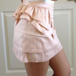 Topshop Skirts - TOPSHOP Mixed Tier Mini Skirt
