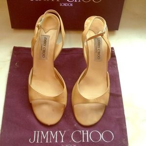Beige leather Jimmy Choo heals