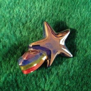 Ceramic star pin
