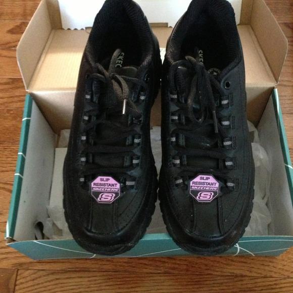 skechers slip proof shoes