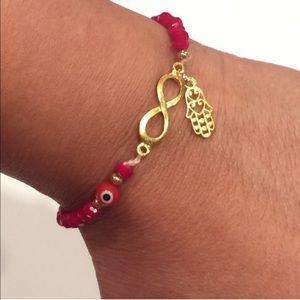 Jewelry - NEW Infinity Hamsa & Evil Eye Bracelet