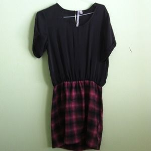 Plaid pull on dress