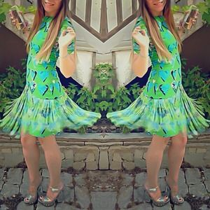 Versace for H&M silk fringe dress