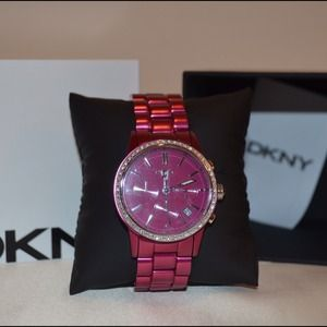 DKNY Pink Chronograph Watch