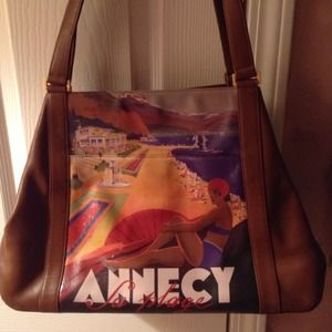 Fab travel leather bag!   a trip to beach inFrance