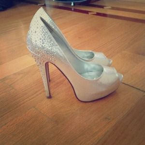 75% off Shoes - Silver glitter 5 inch heels from Torien's closet ...
