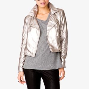 Metallic Moto Jacket NWT