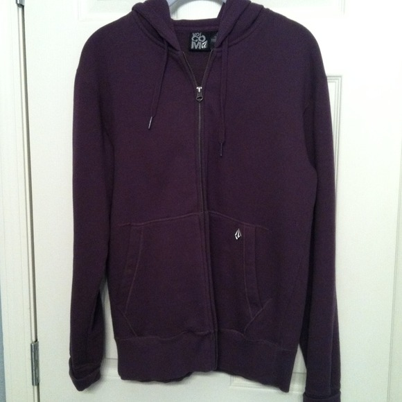 Volcom Jackets Amp Coats Dark Purple Zip Hoodie Poshmark