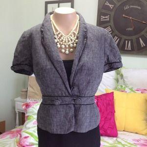 Ann Taylor Short Sleeve Jacket