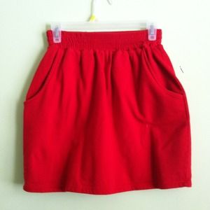 "Red American apparel ""tulip"" skirt"