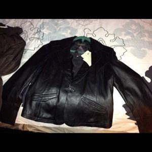 leather jacket, new