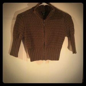 Guess Crop Zip Sweater