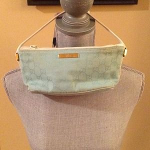Authentic Gucci baby blue pouchette