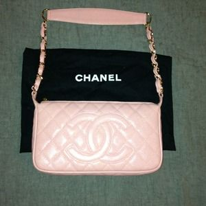 Chanel pink shoulder bag